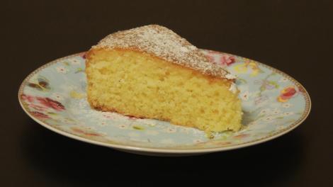 bolo de amêndoas e limão siciliano