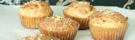 muffins de parmesão