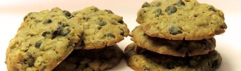 cookies de aveia, passas e chocolate